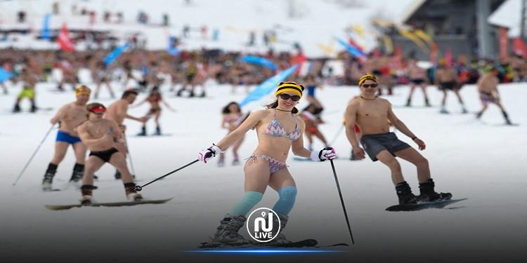اختتام مهرجان التزلج بـ''البكيني'' في روسيا