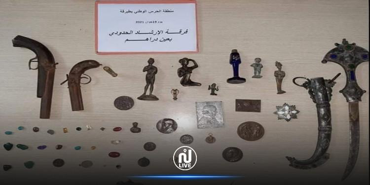جندوبة :  حجز قطع أثرية