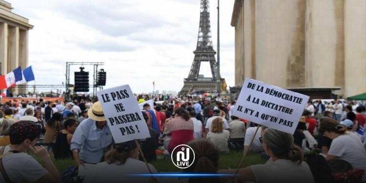 الفرنسيون يحتجون ضد إلزامية التطعيم بلقاح كورونا