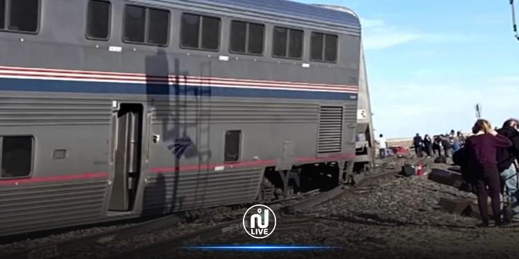 الولايات المتحدة .. قتلى وجرحى جراء خروج قطار عن السكة