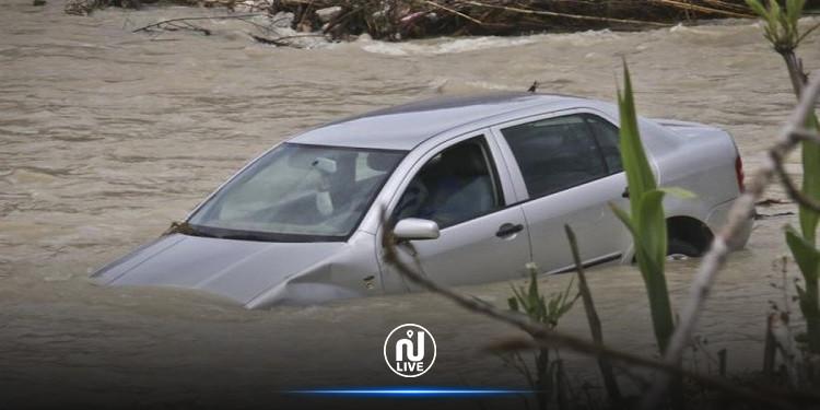 القصرين: وفاة شاب في سيارة جرفتها مياه الأمطار والبحث متواصل عن جثة مرافقه