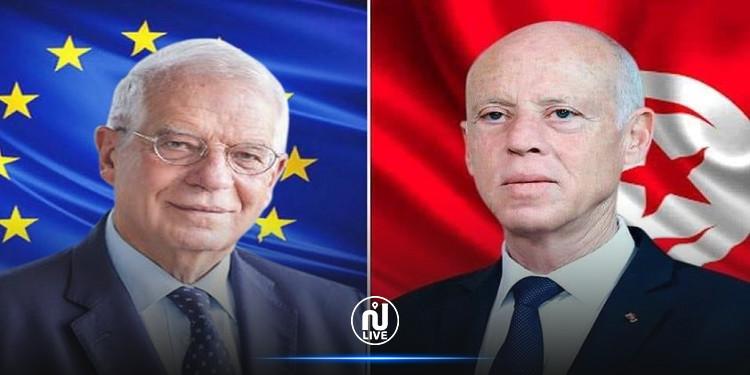 رئيس الجمهورية يشرح لممثل الشؤون الخارجية للاتحاد الأوروبي الأسباب التي دعته إلى اتخاذ التدابير الاستثنائية
