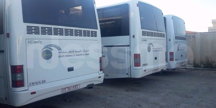 الشركة الجهوية للنقل بسليانة تستقبل 6 حافلات (صور)