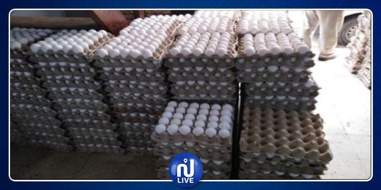 حجز 175 ألف بيضة و 5 أطنان من الدقلة بإقليم تونس