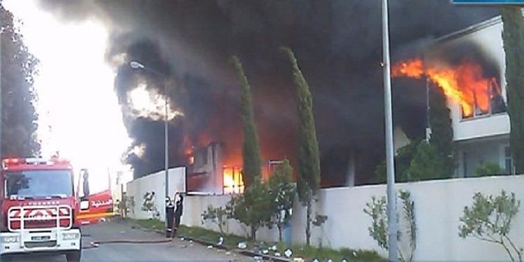سوسة: إندلاع حريق في شركة مختصة في صنع إطارات السيارات