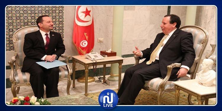 وزير الخارجية يستقبل السفير الأمريكي المنتهية مهامه بتونس