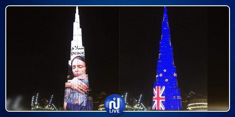 برج خليفة يكتسي بصورة رئيسة وزراء نيوزيلندا