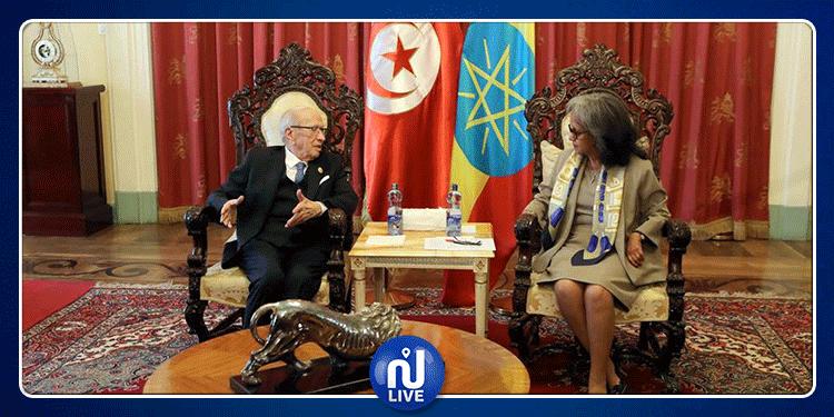 رئيس الجمهورية يدعو إثيوبيا إلى فتح ممثلية ديبلوماسية في تونس