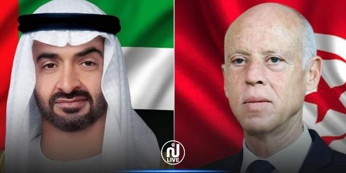 ولي عهد أبو ظبي يؤكد إستعداد بلاده لمواصلة دعم تونس
