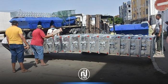 بلدية القيروان تتسلم معدات  نظافة في إطار مشروع أمريكي لدعم البلديات