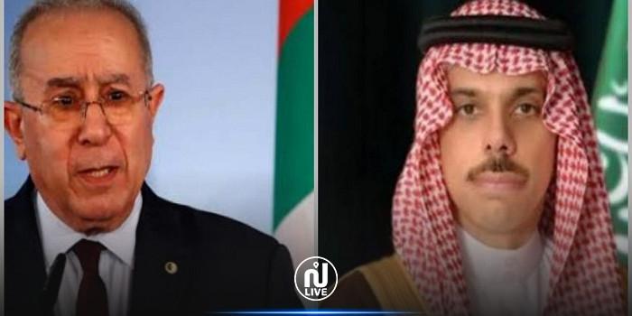 وزير الخارجية الجزائري يتلقى اتصالا هاتفيا من نظيره السعودي