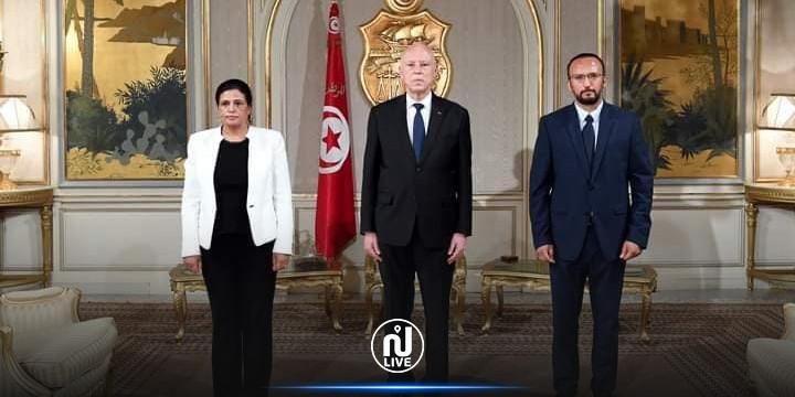 المكلفان بتسيير وزارتي المالية وتكنولوجيات الاتصال يؤديان اليمين أمام رئيس الجمهورية