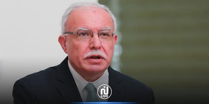 وزير الخارجية الفلسطيني يؤكد دعم القيادة الفلسطينية لتونس حتى تتجاوز التحديات الحالية
