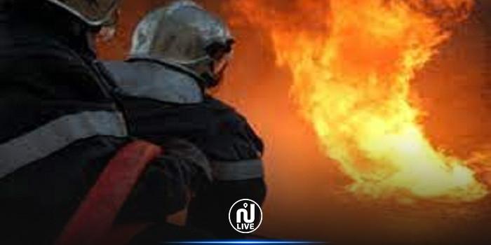 باجة : اندلاع حريق في أحد محلات بيع قطاع الغيار