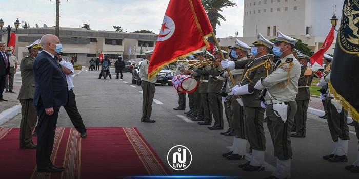 رئيس الجمهورية يشرف على موكب احياء الذكرى 65 لانبعاث سلك الحرس الوطني