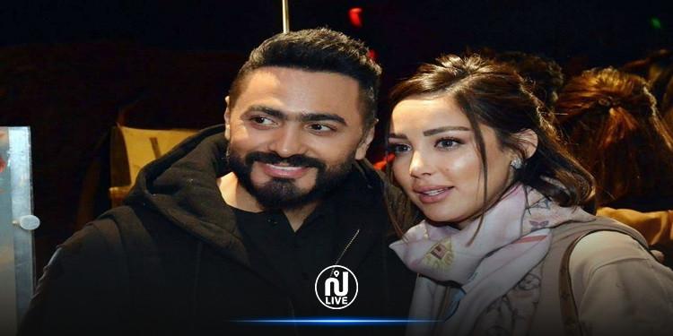 تعليق بسمة بوسيل على خبر زواج تامر حسني عرفيا