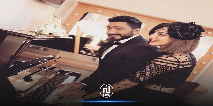 تامر حسني وزوجته يقرران إطلاق عطر فرنسي في عيد الحب