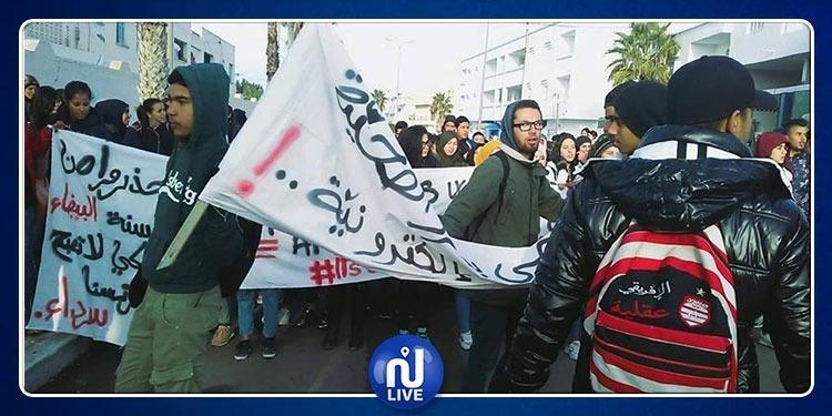 حاجب العيون: إضراب مفتوح وتحركات إحتجاجية تلمذية (صور)