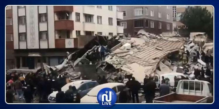 ارتفاع عدد القتلى في انهيار بناية باسطنبول (فيديو)