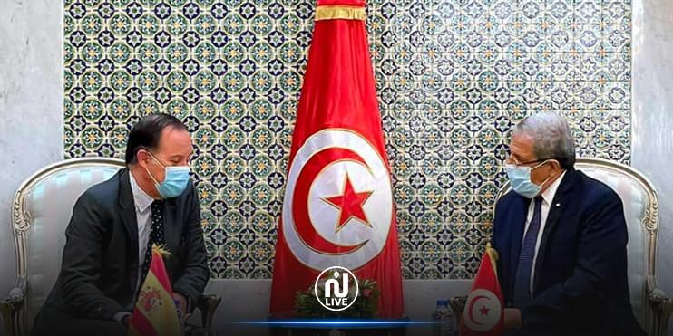 الجرندي يلتقي سفير اسبانيا في تونس ويبحث معه سبل التعاون الثنائي