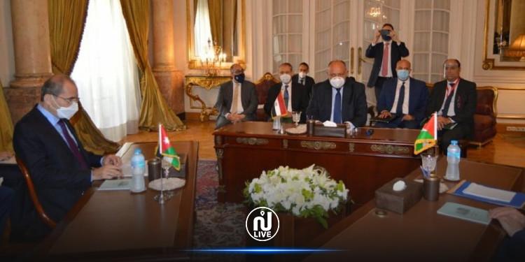 المفاوضات الفلسطينية الإسرائيلية محور لقاء ثلاثي لوزراء خارجية مصر والأردن وفلسطين