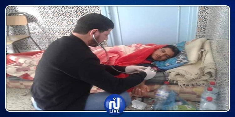 ساءت حالته..نقل ربّ عائلة للمستشفى بعد تنفيذه اضراب جوع في بوحجلة