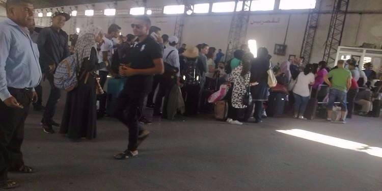 بمناسبة عيد الأضحى: حالة من الفوضى والإختناق بمحطة المنصف باي (صورة)