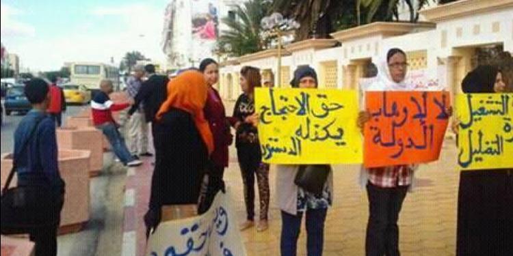 سيدي بوزيد : إطلاق اسم الراحل الصغيّر أولاد أحمد على مدرسة إبتدائية ووقفة احتجاجية على سياسة الإنتداب بوزارة التربية (صور)