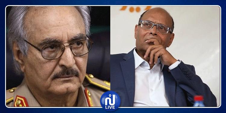 المنصف المرزوقي: ''حفتر يريد إرباك الجزائر وتونس وليس ليبيا فقط''