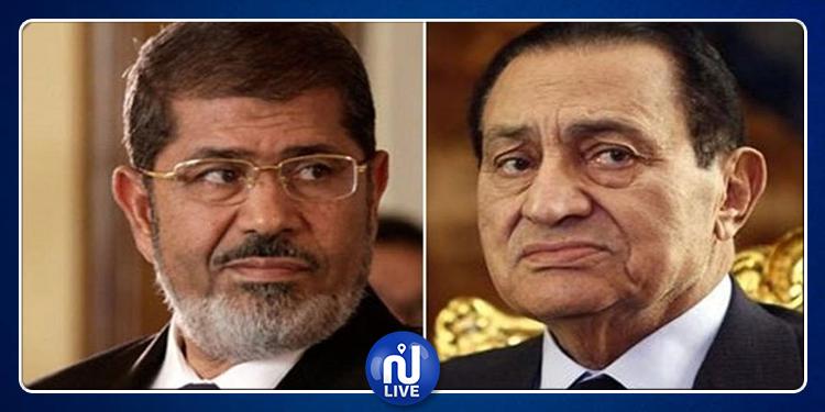 حسني مبارك ومحمد مرسي وجها لوجه أمام محكمة الجنايات بالقاهرة
