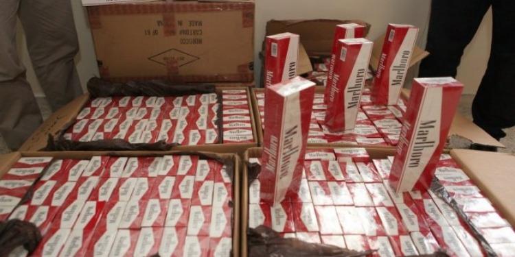 وحدات الحرس الوطني تحجز أكثر من11 ألف علبة سجائر مهربة
