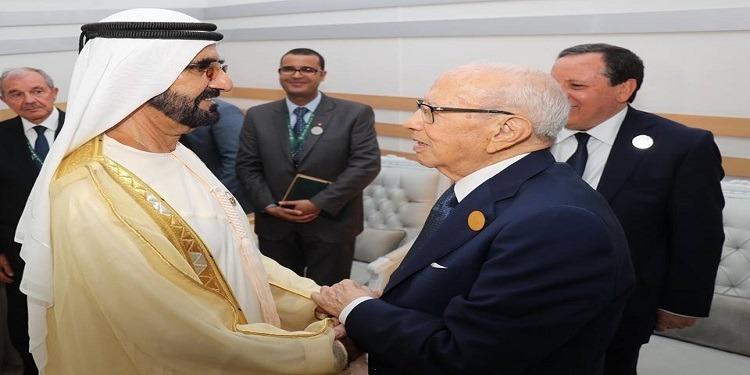 فحوى لقاء  رئيس الجمهورية والشيخ محمد بن راشد آل مكتوم