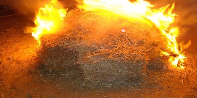 القيروان: إخماد حريق أتلف 69 ألف حزمة من التبن