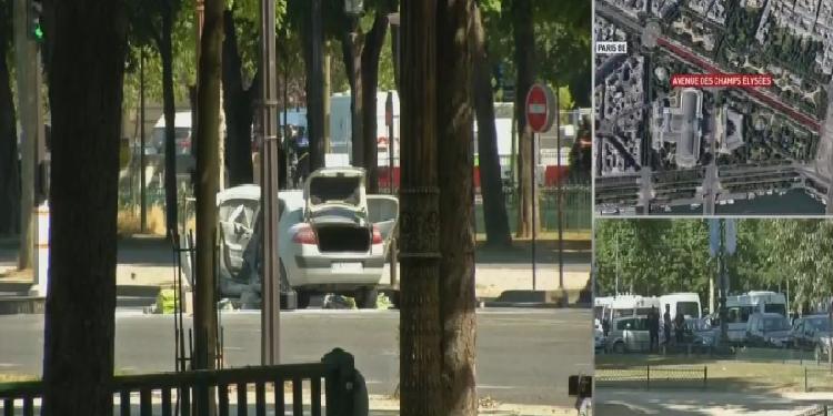 الشرطة الفرنسية: سيارة تنفجر بعد صدم شاحنة لهم في الشانزليزيه