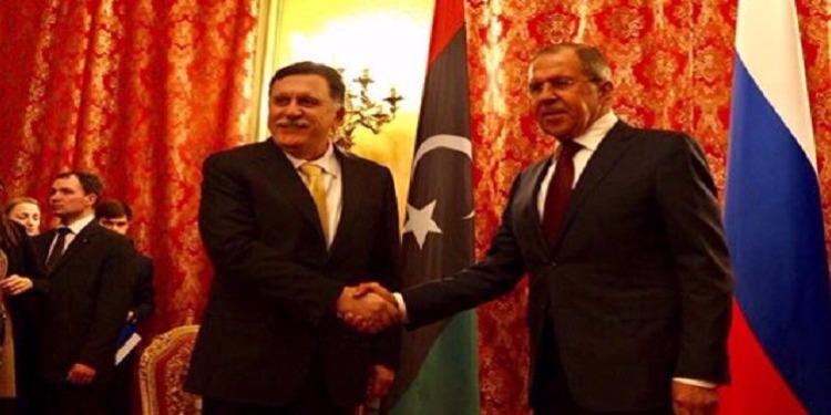 لافروف والسراج يبحثان الحلول للأزمة الليبية