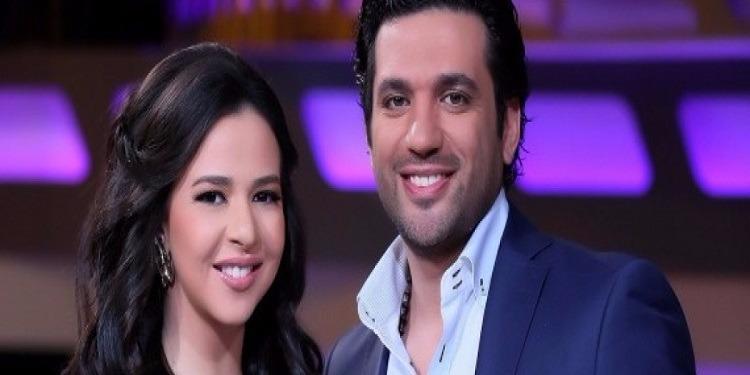 يسرا تشارك حسن الرداد وإيمي سمير غانم الإحتفال بعيد زواجهما (فيديو)