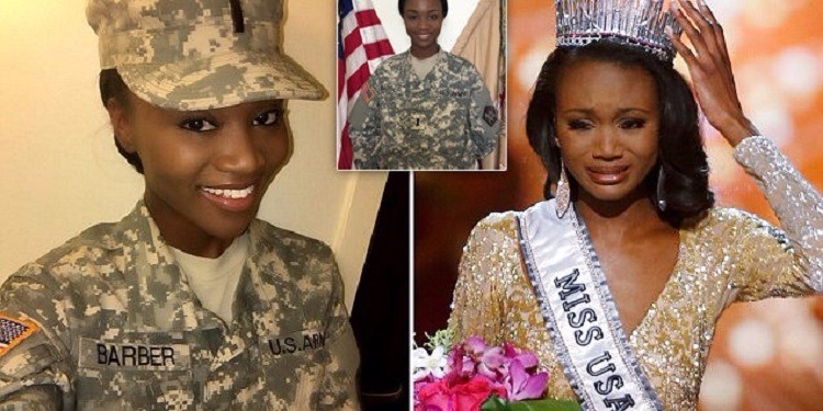 ملكة جمال أمريكا ضابط في الجيش