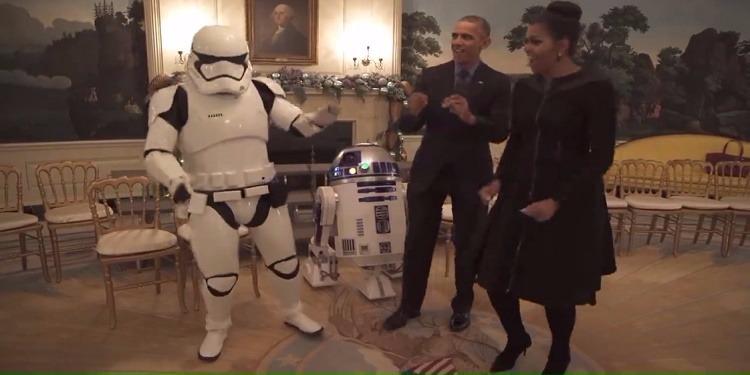 Star Wars s'invite à la Maison Blanche (vidéo)
