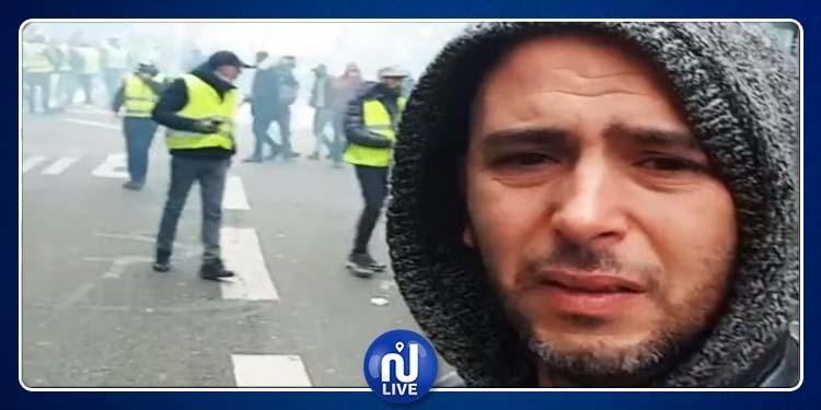لطفي العبدلي من قلب المواجهات بين الأمن و''السترات الصفراء''(فيديو)