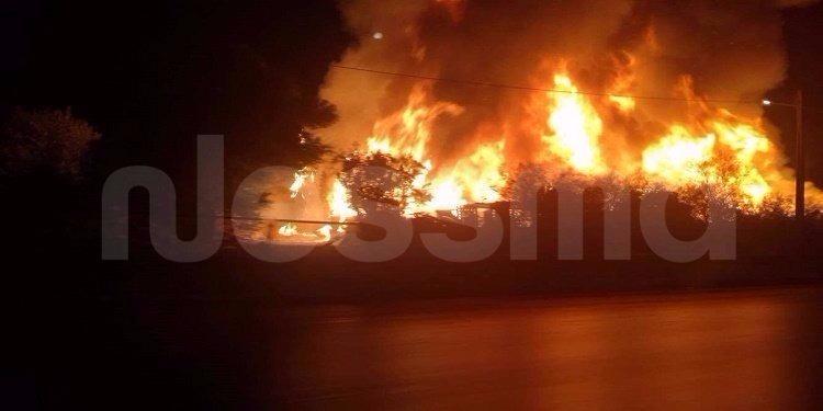الكاف: اندلاع حريق بجبل''القفي'' بنبر