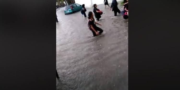 La cité El-Khadhra sous l'eau