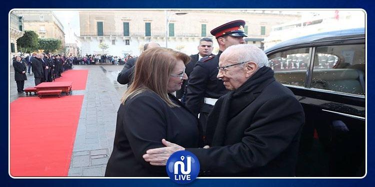 رئيسة مالطا تشيد بمساواة تونس بين الرجل والمرأة