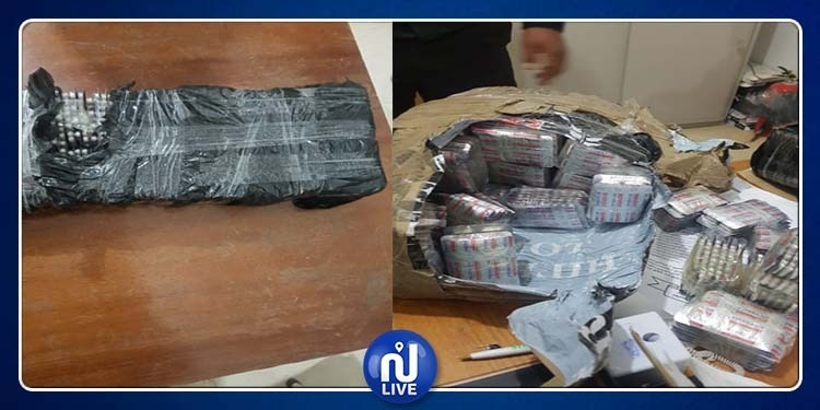 القصرين: حجز 14 ألف قرصا مخدرا على متن سيارة جزائرية (صور)