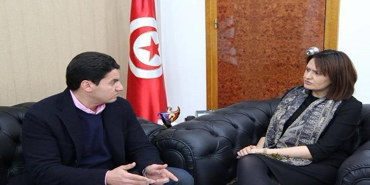رئيس النادي الإفريقي مروان حمودية في ضيافة وزيرة الشباب والرياضة