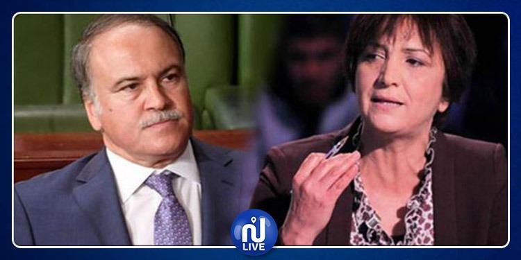 شتم وتهديد.. ملاسنة بين سامية عبو ووزير التربية في البرلمان (فيديو)