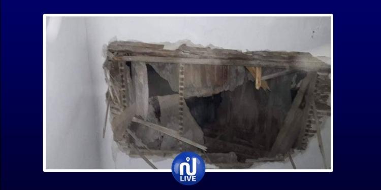 بنزرت: انهيار جزء من سقف أحد المباني الإدارية الخاصة