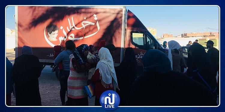 قافلة الخير لجمعية خليل تونس تحط الرّحال بنفطة