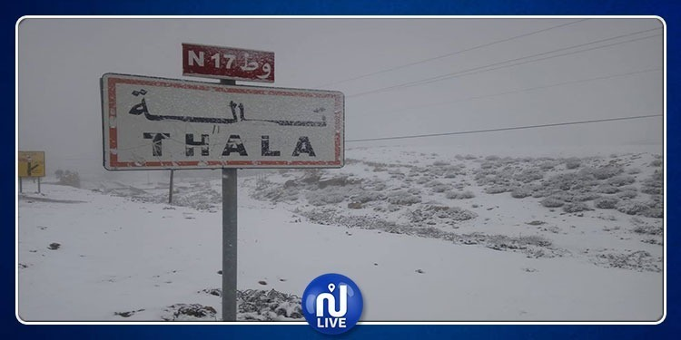القصرين: الجيش الوطني يتدخل لإزاحة الثلوج وفتح الطرقات بتالة