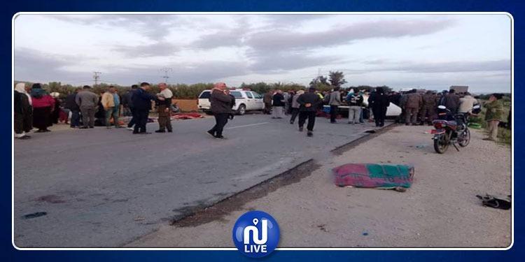 عاجل: وفاة 12 عاملة فلاحة في حادث مرور بسيدي بوزيد