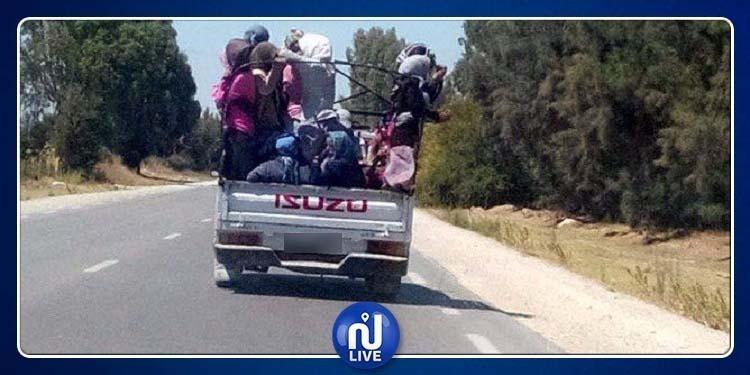 القيروان: سقوط عاملات فلاحة من شاحنة